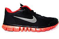 Мужские беговые кроссовки NIKE Free Run  3.0, черные Р. 41 42 43