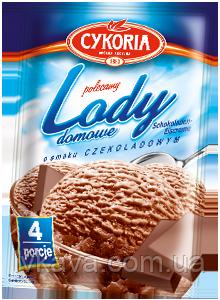 Порошок для приготовления мороженного Lody domowe Cykoria с шоколадным  вкусом, 60 гр, фото 2
