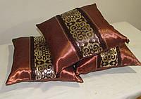 Комплект подушек коричневые узор, 3шт