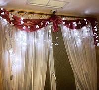 гирлянда шторка из 120 орхидей в интерьере дома наших клиентов