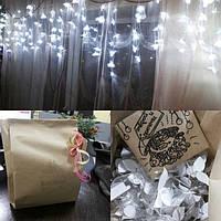 Гирлянда шторка, упаковка и поздравление от нас - все это в 1 фотографии. Спасибо нашим клиентам