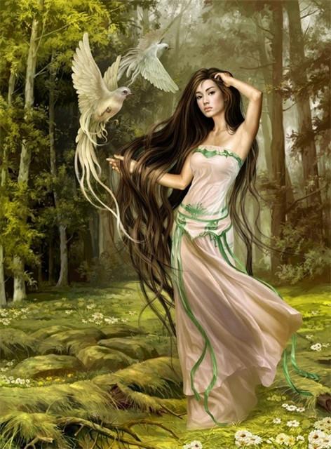 Принты для вышивки - ангелы, феи.