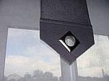 Комплект панельних шторок сірі і батист білий, фото 2