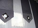 Комплект панельних шторок сірі і батист білий, фото 3