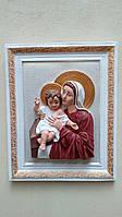 Матір Божа з Ісусикрм в рамці колір