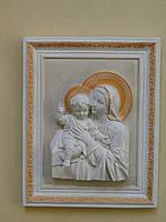 Матір Божа з Ісусиком в рамці (біла)