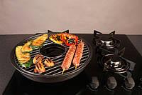Сковорода Гриль-газ D501 (Мраморное покрытие)