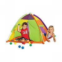 Палатка туристическая детская Купол + 30 шариков