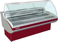 Вітрина холодильна ТЕХНОХОЛОД НЕБРАСКА 1,6 гнуте скло, фото 1