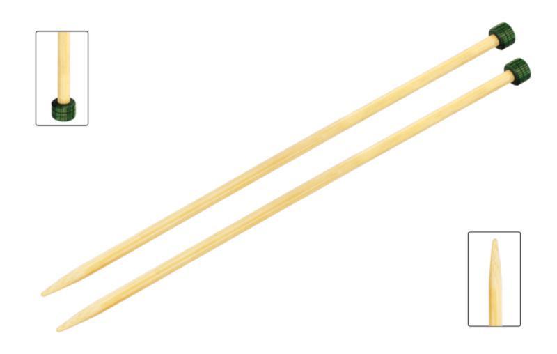 Спицы прямые 33 см Bamboo KnitPro  5,00 мм