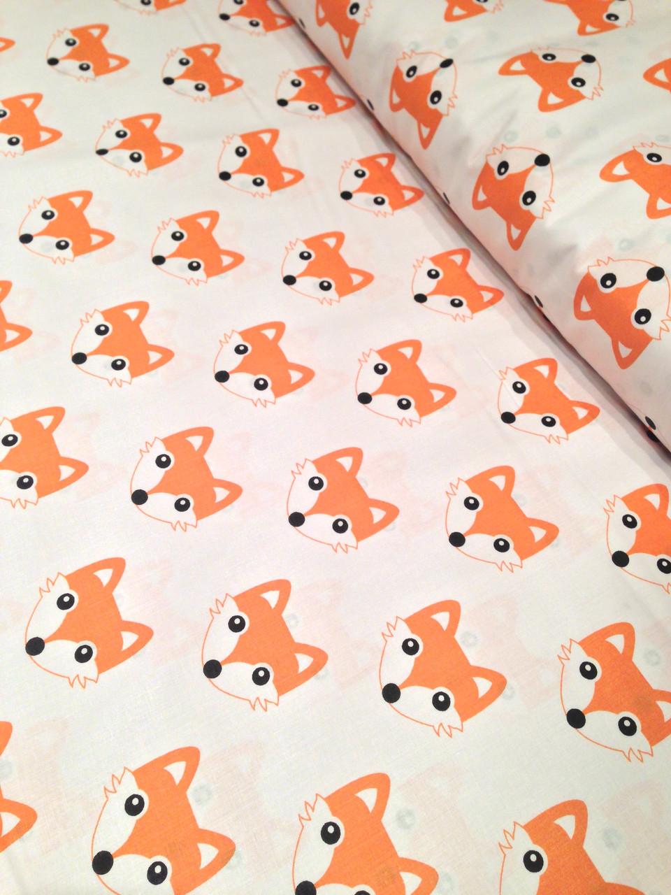 Хлопковая ткань лисы рыжие № 233d