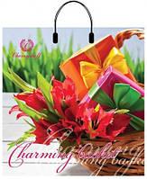 Пакет пласт руч 40*42 Тюльпан в корзине