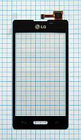 Тачскрин сенсорное стекло для LG E450 Optimus L5 II black