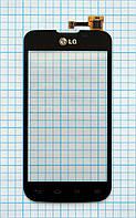 Тачскрин сенсорное стекло для LG E455 Optimus L5 II Dual black