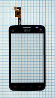 Тачскрин сенсорное стекло для LG E445 Optimus L4 II Dual black