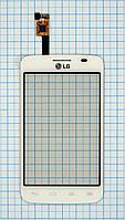 Тачскрин сенсорное стекло для LG E445 Optimus L4 II Dual white
