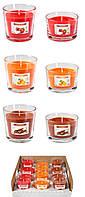 Набор из 12 ароматических свечей в стекле BISPOL №SN77/86MIX Flame