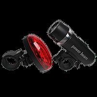 Велосипедный светодиодный набор: передняя фара и задний фонарь , фото 1