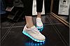 Кроссовки светящиеся низкие белые