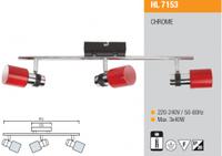 Настенный(потолочный) светильник HL7153 3X40W  хром G9  220-240V 50-60 Гц Max. 3х40W