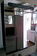 Зеркало шкаф в ванную СОЛО (венге) Николь 60 см