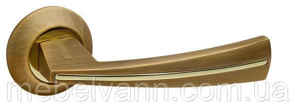 Ручка раздельная FUARO SOUND RM AB/GP-7 бронза/золото