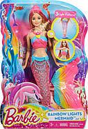 """Лялька Барбі Русалонька """"Яскраві вогники"""" / Barbie Rainbow Lights Mermaid Doll, фото 9"""