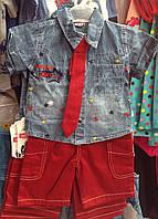 Костюм літній Рубашка джинсова і котонові бріджі