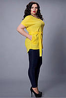 Яркая летняя женская блуза увеличенных размеров.