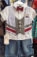 Костюм літній Рубашка обманка і джинсові бріджі