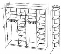 Варианты внутреннего наполнения шкафа купе