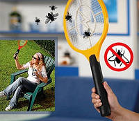 Электромухобойка на батарейках Plastic Bug Catcher