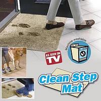 Впитывающий придверный коврик Clean Step Mat, ковер Клин Стэп Мэт с нескользящим основанием