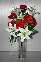 Искусственный букет из лилий и роз № 408