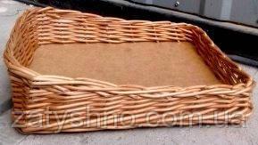 Лоток плетеный  из лозы для хранения овощей