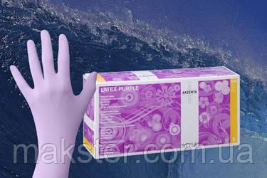Перчатки латексные неопудренные Akzenta Latex Purple, фото 2