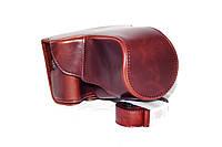 Защитный футляр - чехол для фотоаппаратов CANON EOS M3 - цвет кофе (коричневый)