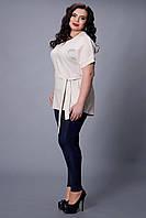 Модная летняя женская туника с поясом.