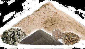 Сипучі будматеріали: пісок, щебінь, шлак, керамзит тощо