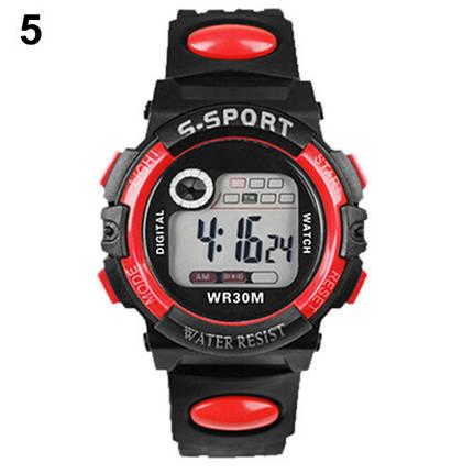 Спортивные электронные наручные часы с секундомером, будильником и подсветкой S-Sport Red (∅40 мм), фото 2