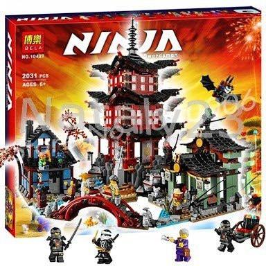 Конструктор Bela 10427 аналог ( LEGO Ninjago 70751) Лего Ниндзяго Храм Аэроджитцу
