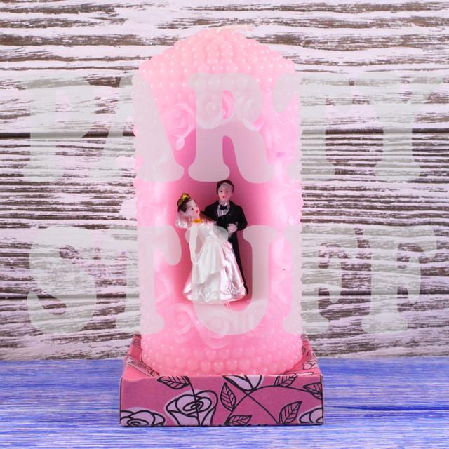 свеча розовая семейный очаг