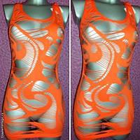 Эффектная пляжная клубная туника - мини платье, тм Greenice, рванка, хорошо тянется, размеры 40 - 50.