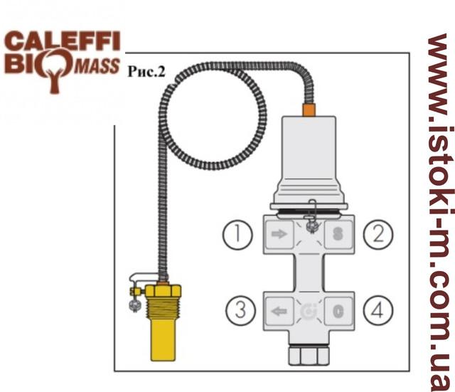 клапан теплового сброса caleffi  544400