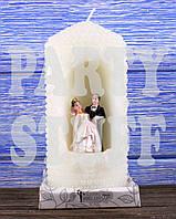 Свеча свадебный очаг, Белая, 10 х 6 см