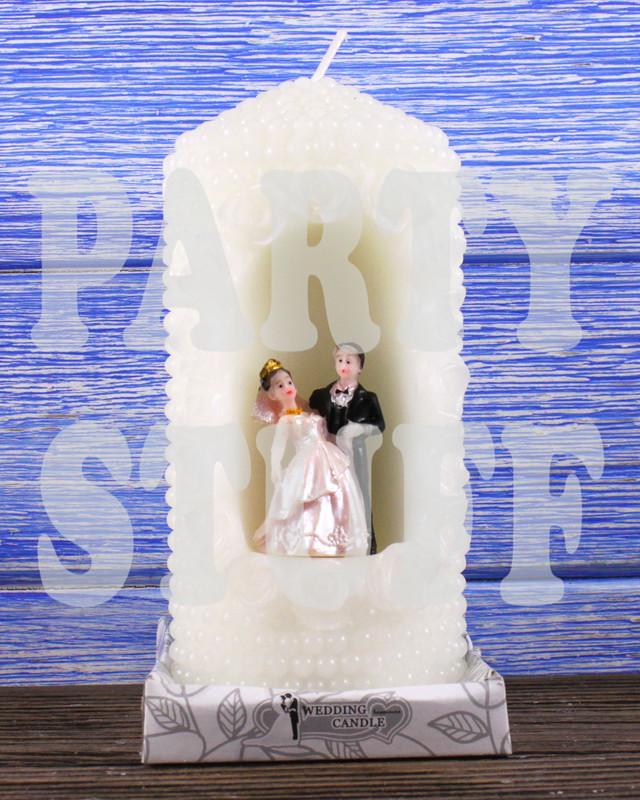 свеча свадебный очаг белая
