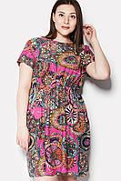 Легкое женское платье с ярким принтом в 2х цветах ERMI