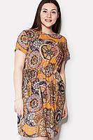 Легкое женское платье с ярким принтом ERMI