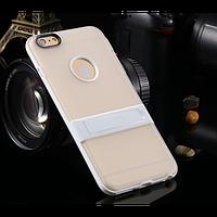 """Cиликоновый чехол c подставкой для iPhone 6 plus (5.5 """")   пленка!"""