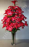 Искусственный букет из лилий и роз № 214